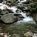 Granite Boulders In A River  by Christiane Schulze Art And Photography
