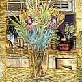 Granite Bouquet Vangogh Vision by Ellen Cannon