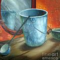 Granite Bucket Reflections by Doreta Y Boyd