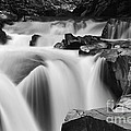 Granite Falls Black And White by Mark Kiver