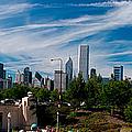 Grant Park Chicago Skyline Panoramic by Adam Romanowicz