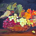 Grapes In Basket by Darla Freeman