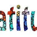 Gratitude 1 - Inspirational Art by Sharon Cummings