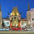 Grauman's Chinese Theater Night Beautiful Lights by David Zanzinger