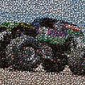 Grave Digger Bottle Cap Mosaic by Paul Van Scott