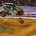 Grave Digger Loses A Wheel by Nathan Rupert