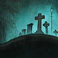 Graveyard At Night by Lee Avison