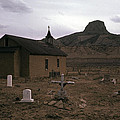 Graveyard Church Cabezon Peak Ghost Town Cabezon New Mexico 1971 by David Lee Guss