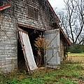 Gray Barn Door by Michael Thomas