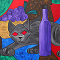 Gray Cat by Sherry Nelson