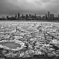 Gray Winter Chicago Skyline by Sven Brogren