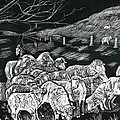 Grazing Sheep by Phyllis Muller