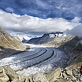 Great Aletsch Glacier Swiss Alps Switzerland Europe by Matthias Hauser