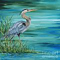 Great Blue Heron-2a by Jean Plout