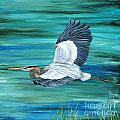 Great Blue Heron-3a by Jean Plout