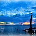 Great Blue Heron Sunrise by Mark Olshefski
