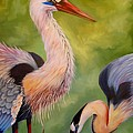 Great Blue Herons by Nancy Bradley