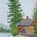Great Camp Sagamore Boat House by Robert P Hedden