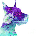 Great Dane 7 by Watercolor Girl