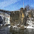 Great Falls Painted by Jorge Perez - BlueBeardImagery