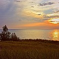 Great Lake Great Sunset by Michelle Calkins