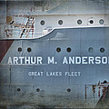 Great Lakes Freighters Arthur M Anderson by Evie Carrier