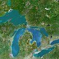 Great Lakes by Planetobserver/science Photo Library