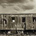 Great Northern Caboose by Fran Riley