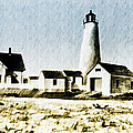 Great Point Lighthouse Nantucket by Bill Cannon