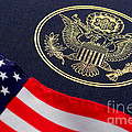 Great Seal Of The United States And American Flag by Olivier Le Queinec