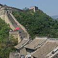 Great Wall Red Umbrella by Andy Fletcher