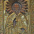 Greek Icon Of Saint Nicolas  by Jay Milo