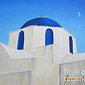 Greek Island Church  by Jerome Stumphauzer