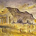 Greek Ruins by Juan  Bosco