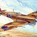 Greek Squadron Spitfire by Georgios Moris