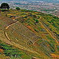 Greek Theatre With Bergama In Background From Pergamum-turkey by Ruth Hager