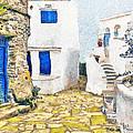 Greek Village 8 by George Rossidis