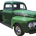 Green 1951 Ford F-1 Pick Up Truck Illustration  by Keith Webber Jr