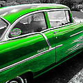 Green 1957 Chevy by Sherman Perry
