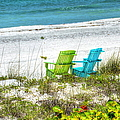 Green And Blue Chairs by Debbi Granruth