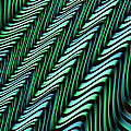 Green And Blue Folds by John Edwards