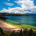 Green And Blue Lake by Jess Kraft