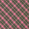 Green And Pink Diagonal Plaid Pattern Textile Background by Keith Webber Jr