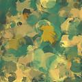 Green And Yellow Round Brush Strokes by Shekaka