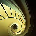 Green And Yellow Spirals by Jaroslaw Blaminsky