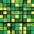 Green And Yellow Sudoku by Karen Adams