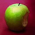 Green Apple Nibbled 1 by Alexander Senin