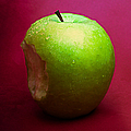 Green Apple Nibbled 2 by Alexander Senin