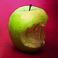 Green Apple Nibbled 3 by Alexander Senin