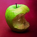 Green Apple Nibbled 5 by Alexander Senin